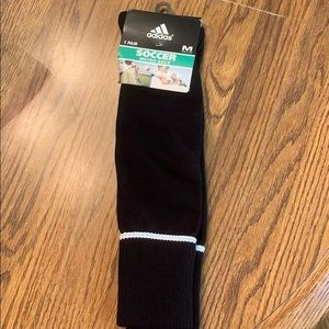 Adidas black and white soccer socks!
